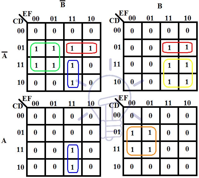 6-Variable karnaugh map K-Map