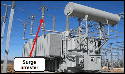 Lightning protection of power transformers by surge