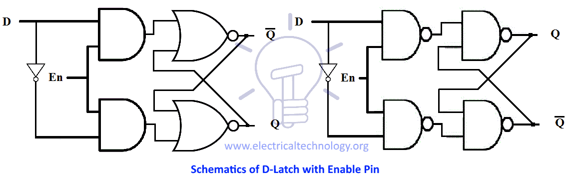 schematics of d-latch with enable pin