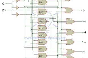 schematic of BCD to 7-Segment Decoder