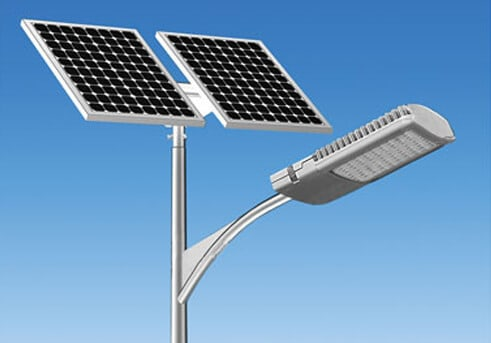 Lighting pole with photovoltaic panel