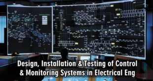 Design, Installation & Testing of Control & Monitoring Systems in Electrical Engineering