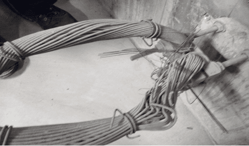 Earthing cable destroyed by lack of care