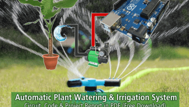 Automatic Plant Watering & Irrigation System - Circuit, Code & PDF