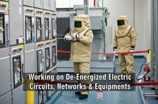 Working on De-Energized Electric Circuits, Networks & Equipments