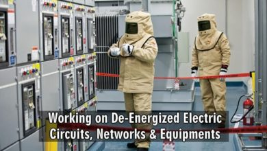 Photo of Working on De-Energized Electric Circuits, Networks & Equipments