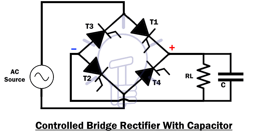 Controlled Bridge Rectifier With Capacitor