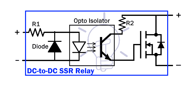 DC to DC SSR relay