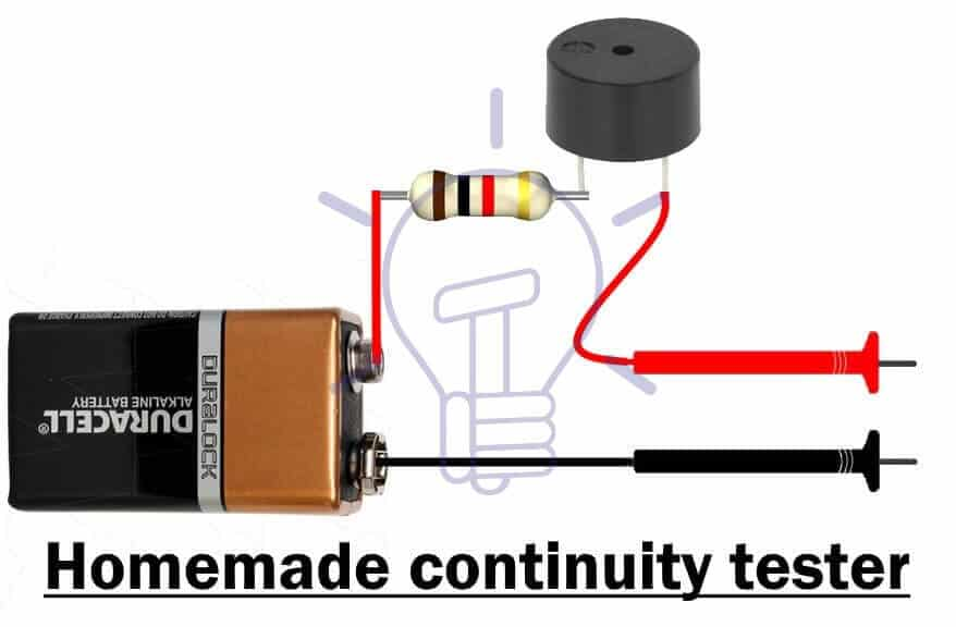 Homemade continuity tester