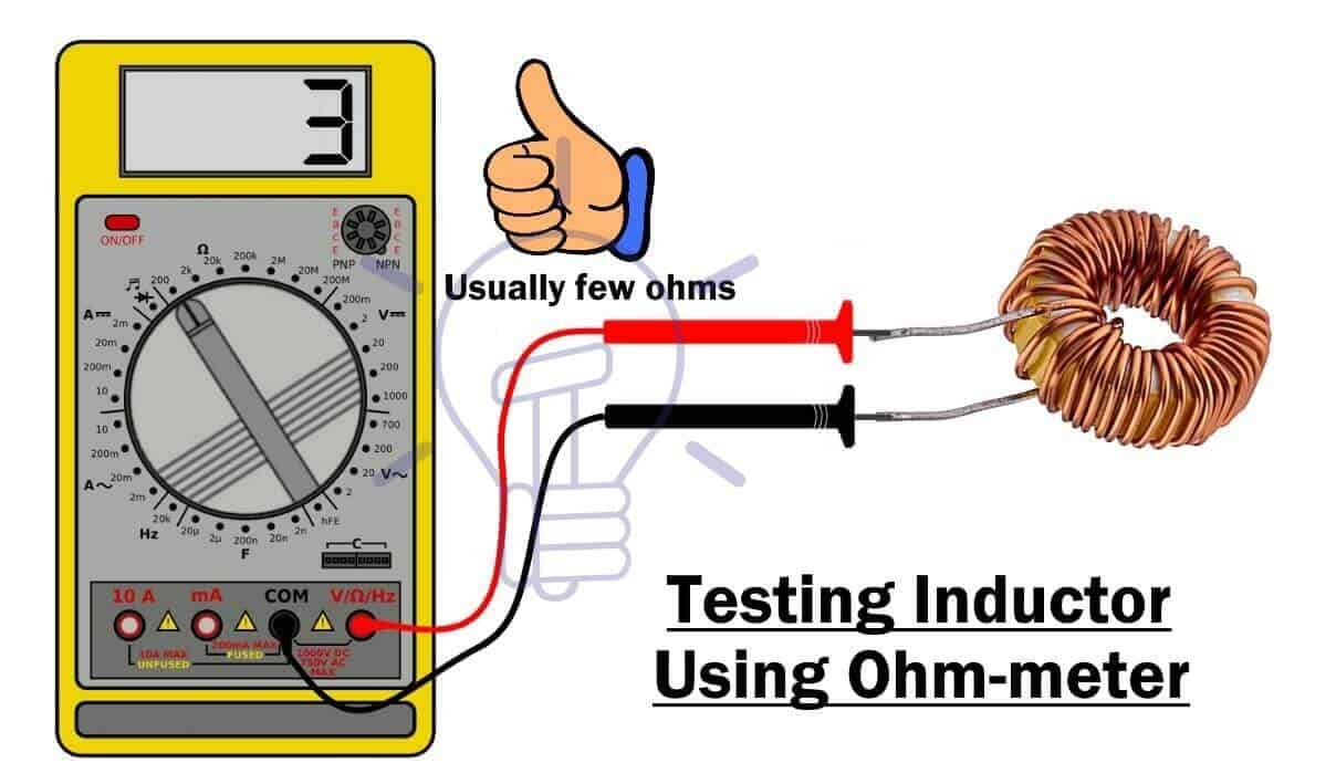 Testing Inductor using Ohmmeter