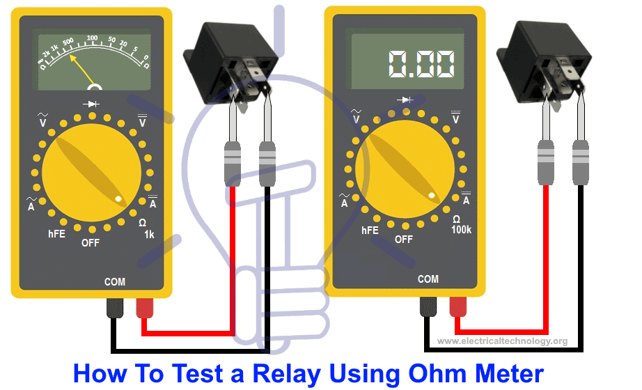 How To Test A Relay Using ohm meter