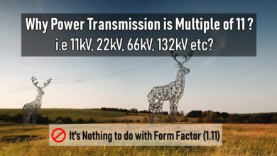 Photo of Why Electric Power Transmission is Multiple of 11 i.e 11kV, 22kV, 66kV etc?