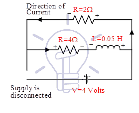 Conditions during discharging in circuit 3