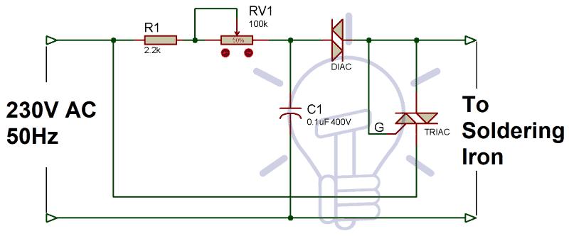Soldering-Iron-Temperature-Controller-Circuit
