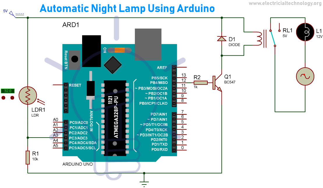 Automatic Night Lamp Using Arduino