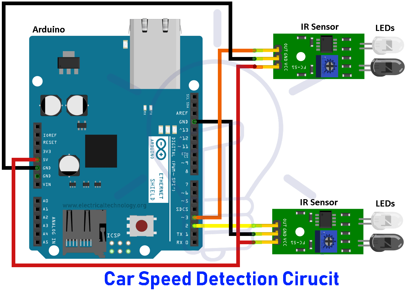 Car Speed Detector Circuit