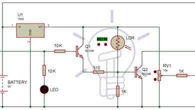 Circuit Diagram for Automatic Emergency Light Circuit