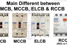 Photo of Difference Between MCB, MCCB, ELCB & RCB, RCD or RCCB Circuit Breakers