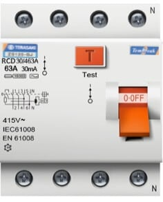 RCD, RCB or RCCD - Residual Current Circuit Breaker