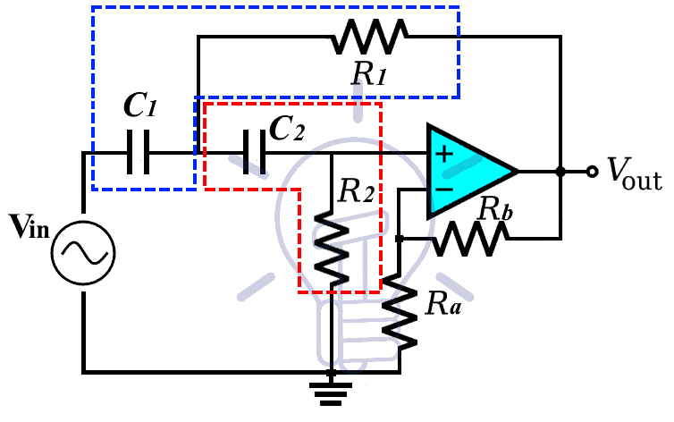 Sallen-Key Second Order Active How Pass Filter