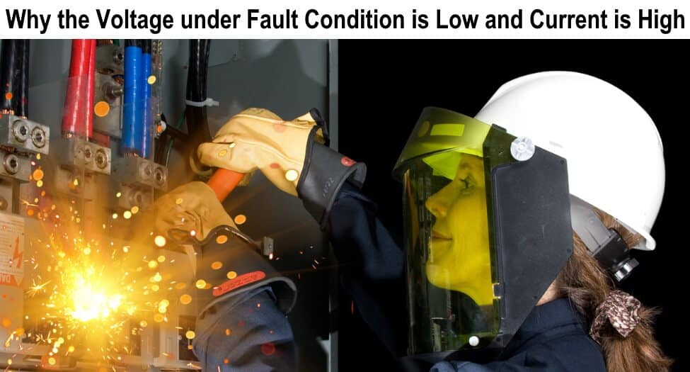 Why the Reactance and Voltage under Fault Condition is Low and Current is High