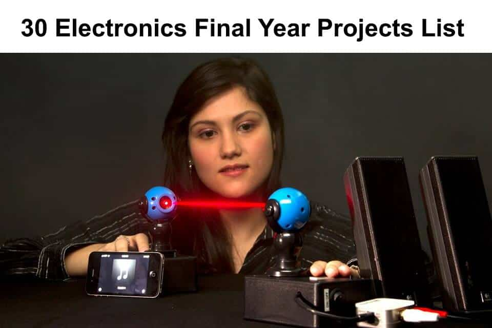 30 Electronics Final Year Projects Ideas List
