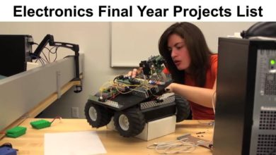 Electronics Final Year Projects Ideas List