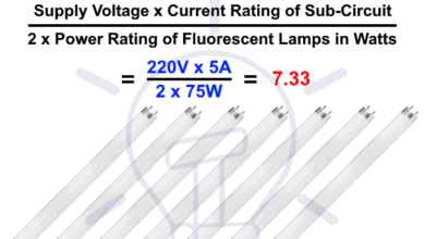 Photo of How to Calculate the Number of Fluorescent Lamps in a Final Sub Circuit?