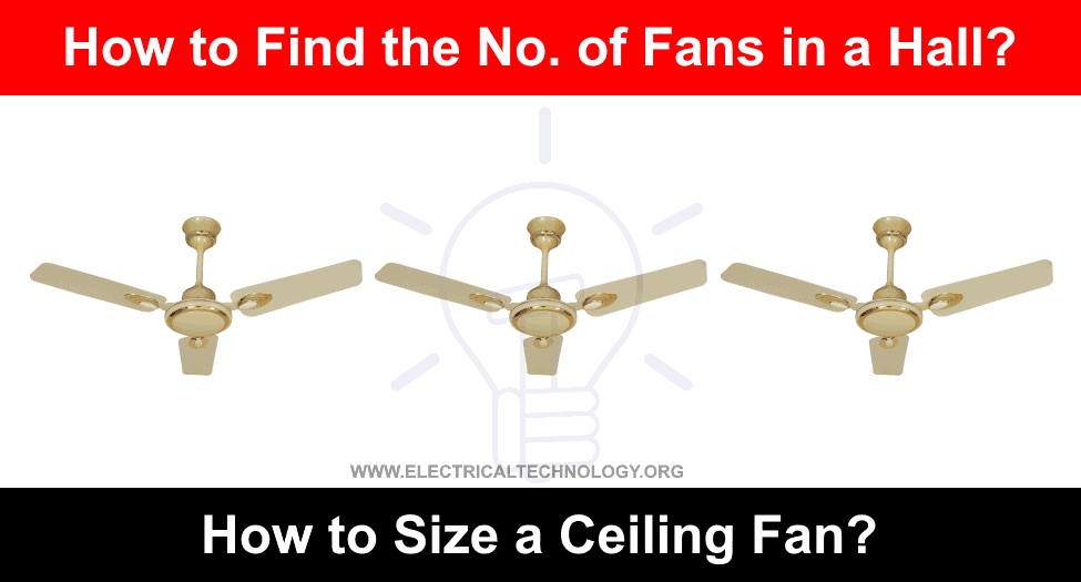 How to Size a Ceiling Fan and find the No of fans in a Room / Hall
