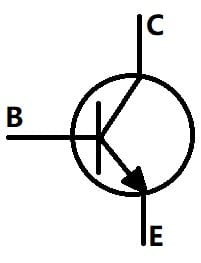 2N2222 NPN Transistor Symbol