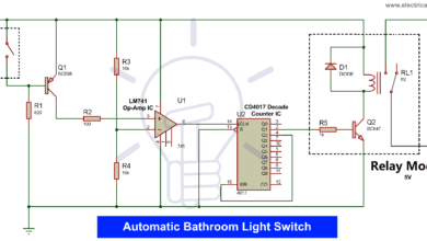 Photo of Automatic Bathroom Light Switch Circuit Diagram and Operation