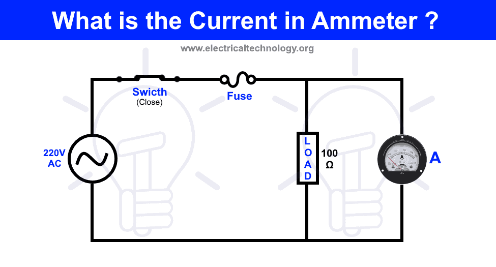 What is the Current in Ammeter Connected in Parallel