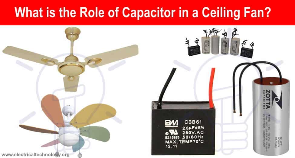What is the Role of Capacitor in a Ceiling Fan