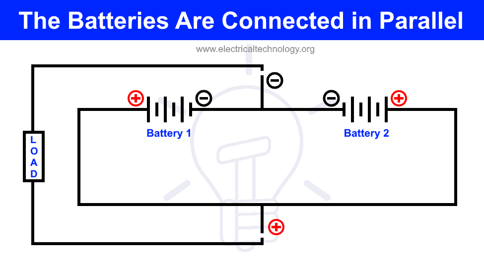 These Batteries are Connected in 1. Series 2. Parallel
