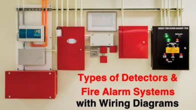 Types of Detectors and Fire Alarm System with Wiring Diagrams