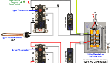 120V AC 9kW Electric Water Heater Dual Elements Simultaneous Wiring
