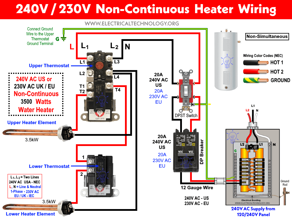 wiring diagram for hot water heater element  meyer e 47