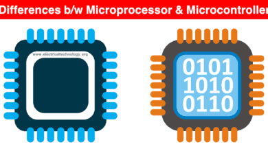 Differences between Microprocessor and Microcontroller
