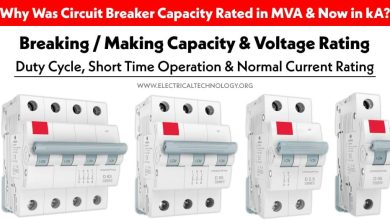 Circuit Breaker Rating - Breaking Capacity, Making Capacity, Voltage & Current Rating, Duty Cycle & Short Time Operation Rating