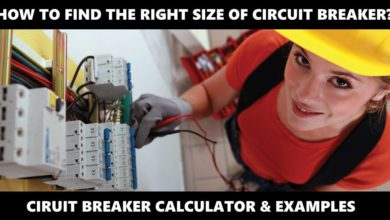 How to Find the Proper Size of Circuit Breaker - Breaker Size Calculator & Examples