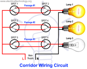 2-Way Switching Wiring in Corridor