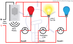 Bell Indicator Circuit for Hotel Wiring