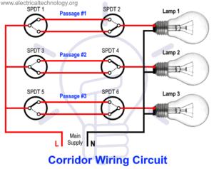 Corridor Wiring Circuit Diagram