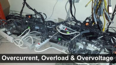 Difference Between Overcurrent, Overload and Overvoltage