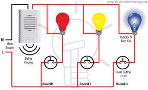 How to make bell indicator circuit