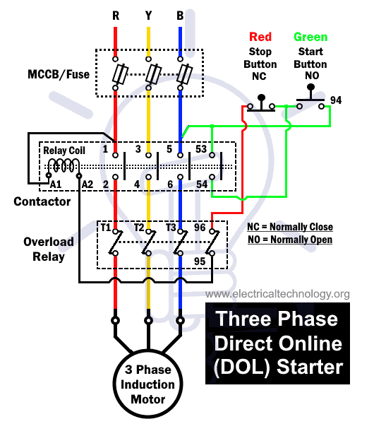 What is DOL Starter? Direct Online Starter Wiring and WorkingElectrical Technology