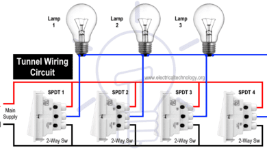Photo of Tunnel Wiring Circuit Diagram for Light Control using Switches
