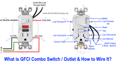 Photo of How to Wire GFCI Combo Switch and Outlet – GFCI Switch/Outlet Wiring Diagrams