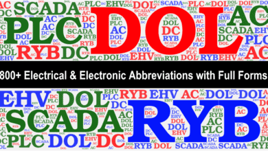 Photo of 800+ Electrical & Electronic Abbreviations with Full Forms. A-Z