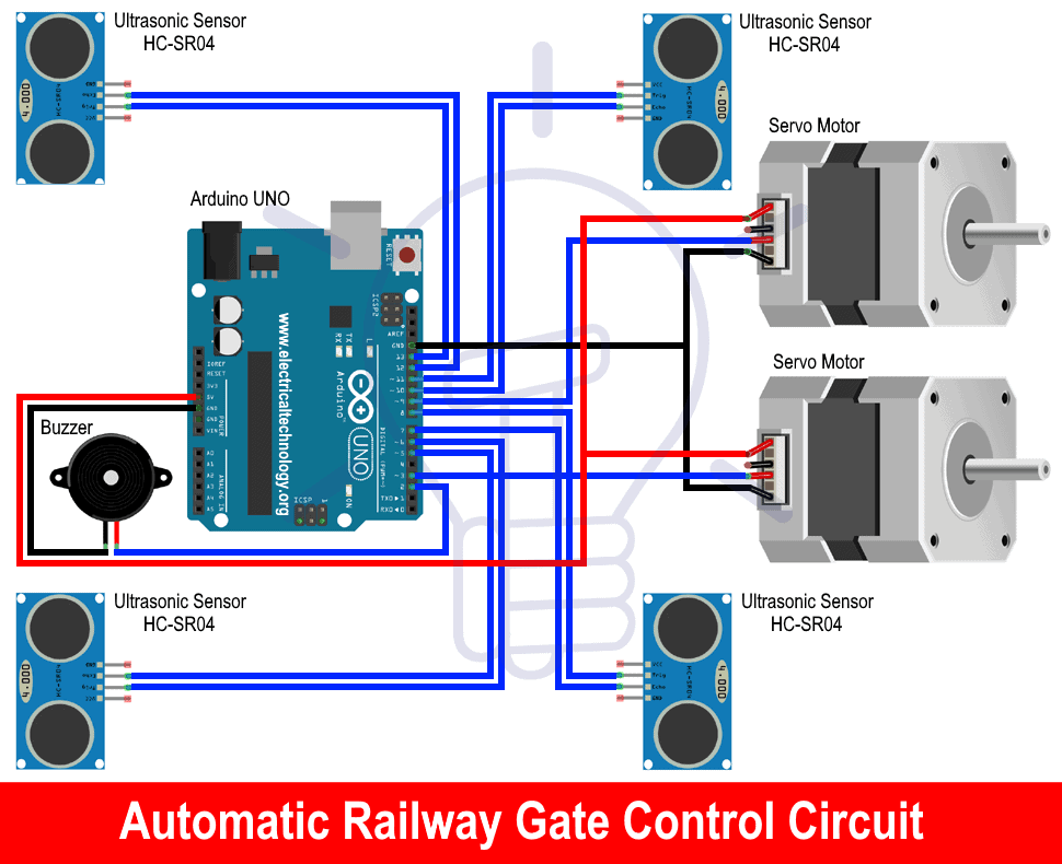 Automatic Railway Gate Control Circuit Diagram